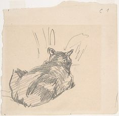 A Cat Resting on All Fours, Seen from Behind, 1861. The Metropolitan Museum of Art, New York. Manet, cats in art