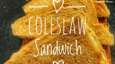 This creamy Coleslaw Sandwich is filled with veggies like cabbage, carrot & spring onions.The coleslaw filli. Salat Sandwich, Coleslaw Sandwich, Jackfruit Sandwich, Veg Sandwich, Coleslaw Salad, Creamy Coleslaw, Vegan Coleslaw, Baker Recipes, Raw Food Recipes