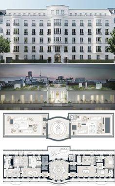 Hotel Floor Plan, Luxury Floor Plans, Luxury House Plans, Home Building Design, Home Design Plans, House Design, New Classical Architecture, Architecture Plan, Classic House Exterior