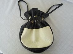 Vintage Blue & White Drawstring Purse by vintapod on Etsy, $23.50