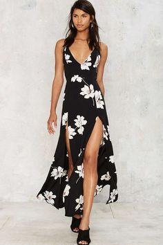 Halle combo maxi dress