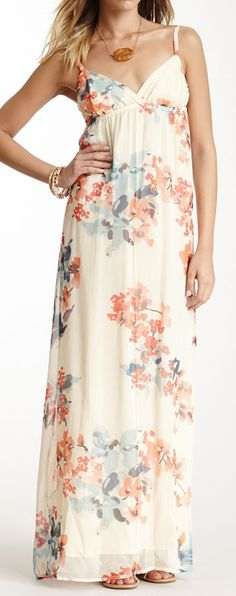 Silk Floral Maxi Dress ♥