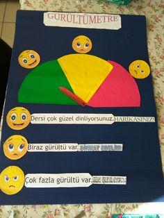 2.sınıf, ilkokul,  gürültümetre,  materyal Teachers Room, 1 J, School Decorations, Preschool Activities, Behavior, Merry, Classroom, Learning, Rage
