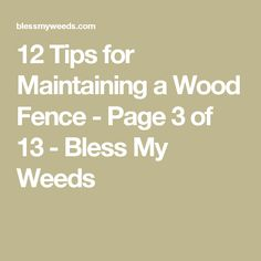 12 Tips for Maintaining a Wood Fence - Page 3 of 13 - Bless My Weeds