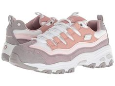 Skechers D'Lites - Sure Thing Casual Chic, Casual Shoes, Dc Shoes Women, Skechers D Lites, Easy Entry, Smart Styles, Signature Logo, Pink Purple, High Top Sneakers