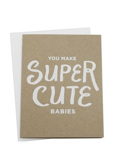 The best baby shower card EVER.