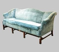 aqua velvet vintage couch - LOVE the upholstery! -The antique couch. (NEED THIS COLOR)