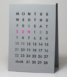 In case you're still on the hunt for a calendar and one of these annual ones isn't your jam, perhaps you'd prefer one of the perpetual kind. These Perpetual Calendars from the UK-based Block are simple and design-y and work on any desk or tabletop you place it on.