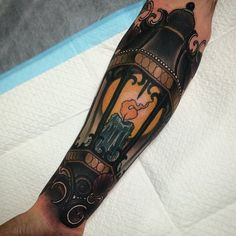 Free hand lantern today, part of a sleeve on a rad dude.