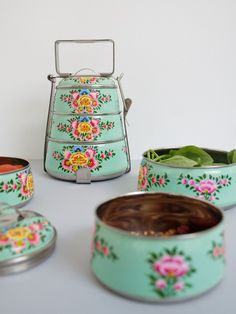 Handpainted Tiffin Carrier - The New Domestic
