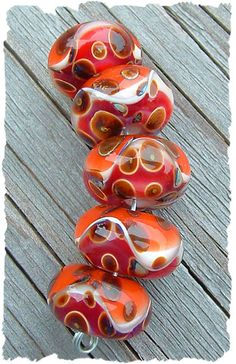 Moroccan Spice! Yummy boro lampwork beads made by my husband Russ. :)