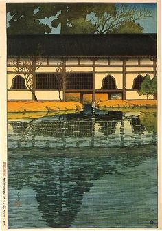 Part of the Byôdô-in Temple at Uji - 1921 Hasui Kawase