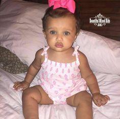 Aubree Blake - 1 Year • African American & Caucasian ? FOLLOW @BEAUTIFULMIXEDKIDS on instagram (Mix Babies Braids)
