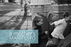 A Mother's Manifesto // why being a mom matters // at finding joy #motherhood #mothersday