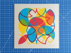 'Common Chord is one of three limited edition screenprints by Bonnie available exclusively through Look Up. Screenprinting, Book Binding, Limited Edition Prints, Looking Up, Surface Design, Printmaking, Geometry, Product Launch, Colour