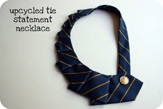 Crazy Wonderful: upcycled tie necklace. A really good idea for re-use an old tie or for use a cheap tie that took your attentioen