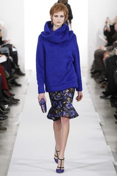 Oscar de la Renta  Another example of a couple of the season's trends - bold colour and chunky knit jumper.