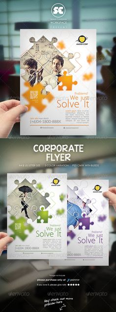 Clean Modern Corporate Flyer / Magazine Ads - Corporate Business Cards