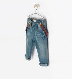 TROUSERS WITH SUSPENDERS - Jeans - Baby boy (3 months - 3 years) - KIDS | ZARA United States