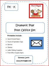 Dramatic play post office set