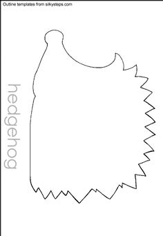 Hedgehog pattern use the printable outline for crafts creating stencils scrapbooking and - Herbstideen kindergarten ...
