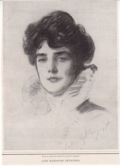 Jennie Jerome, mother of Winston Churchill, by John Singer Sargent