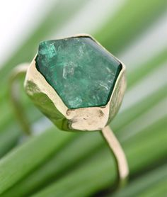Reserve Listing for Eileen - Raw Emerald Ring - One Of A Kind