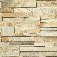 Austin. Muro de piedra finamente talladas y encajadas sobre superficie ligeramente texturada. #wallpaper #papelparedes #diseño
