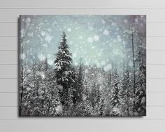 Winter Canvas Blue and Black Art Large Ski by PureNaturePhotos
