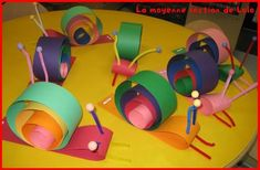snail craft idea for kids Bug Crafts, Daycare Crafts, Craft Projects, Crafts For Kids, Arts And Crafts, Paper Crafts, Snail Craft, Preschool Art, Animal Crafts