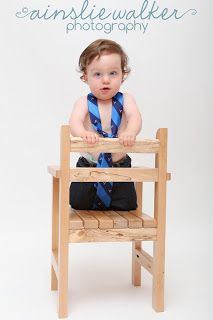 I like the idea of JH wearing one of Daddy's ties! 1 Year old photo shoot:  Ainslie Walker Photography
