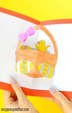Printable DIY Easter Pop Up Card