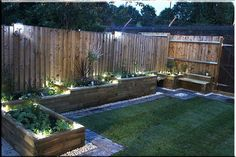 Raised bed with garden bench Backyard landscaping raised garden beds Raised Flower Beds, Garden Retaining Walls, Planters, Ponds Raised Bed Garden Design, Back Garden Design, Garden Landscape Design, Small Garden Raised Beds, Raised Pond, Raised Patio, Raised Bed Fencing, Raised Beds Sleepers, Railway Sleepers Garden