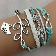 bird and leaves bracelet P.S. I Love You More Boutique | Infinite Sweetness Bracelet Set | Online Store Powered by Storenvy