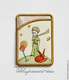 """Купить Картхолдер-визитница вышитый """"Маленький принц"""" - для детей, подарок подруге, подарок сестре"""