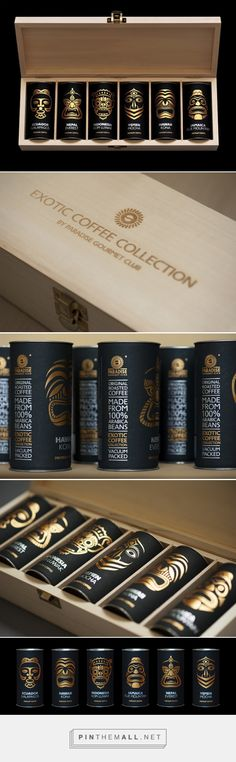 Exotic coffee collection by Paradise. Gourmet-club         on          Packaging of the World - Creative Package Design Gallery - created via http://pinthemall.net (Bottle Bag Packaging)