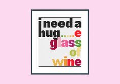 Funny cross stitch pattern glass of wine instant от SpruceXstitch