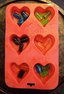 Jolly Rancher candy hearts for ornaments, valentines, or whatever!