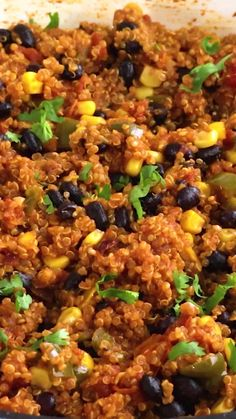 This One Pan Mexican- Style Quinoa will be your o-to recipe when you need hearty and delicious, yet super simple! It's perfect for busy weeknights and it's totally kid-friendly, too. #VeganHuggs #quinoa #mexicanstyle #onepanmeal Vegan Lunch Recipes, Vegan Lunches, Vegan Snacks, Vegetarian Food, Vegan Dinners, Real Food Recipes, Free Recipes, One Pan Mexican Quinoa, Tofu Burger