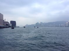 The view of the harbour from the Star Ferry.