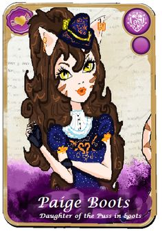 Paige Boots Ever After High Card by mickvanboeijen.deviantart.com on @DeviantArt