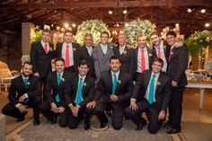 E olha só a gravata dos padrinhos!