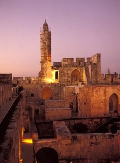 ISRAEL. The tower of David. I was disappointed as kid I always wanted to go in the actual tower. I want to go back one day