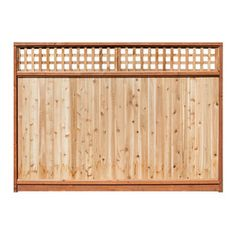 Western Red Cedar Lattice-top Wood Fence Privacy Panel (common: 6-ft X 8-ft…