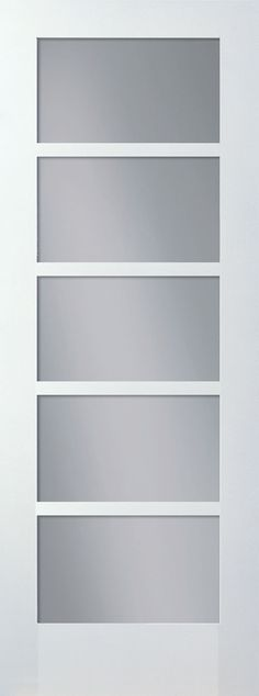 MDF 5 Lite Smooth Door with Clear Glass