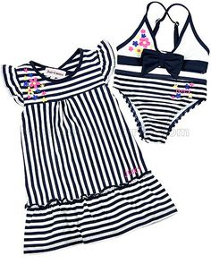 Juicy Couture Baby Swimsuit & Coverup Set, 3M - 24M