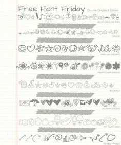 A Pinch of Katy: Free Font Friday - Doodle Dingbats Edition