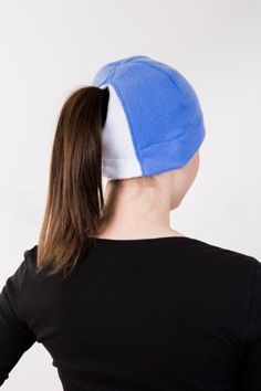 Sky Blue White Ponytail Hat - Order today by visiting: http://www.doohat.com