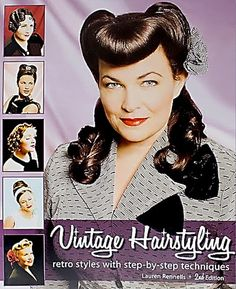 Vintage Hairstyling 2nd Ed:This is a must have for all girls looking to recreate that vintage hair style. The author writes, This book shows how to recreate so many of those vintage hairstyles. This 2nd Edition takes hairstyles from the 1930s, 1940s, 1950s and 1960s and breaks them down into simple, easy-to-follow instructions. It uses over 750 brand new photographs and illustrations and... $36.95