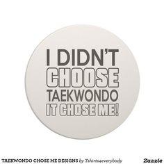 TAEKWONDO CHOSE ME DESIGNS DRINK COASTERS